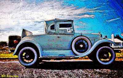 Photograph - Model A Ford. by Bill Jonscher