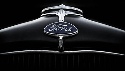 Black Digital Art - Model A Ford by Douglas Pittman