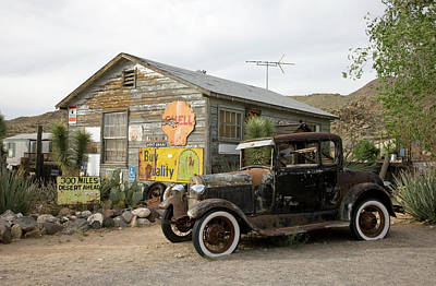 Photograph - Model A Ford Hackberry General Store by Carol Highsmith