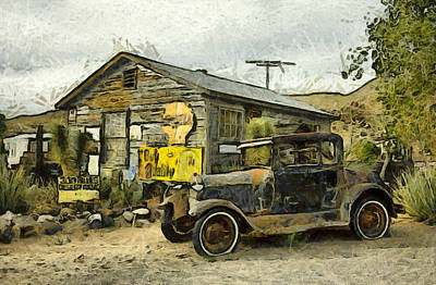 Photograph - Model A Ford Hackberry General Store Digital by Floyd Snyder