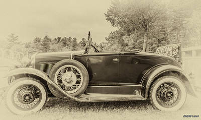 Photograph - Model A Ford Roadster by Ken Morris