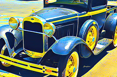 Photograph - Model A Ford Vintage Pick Up Truck by Floyd Snyder