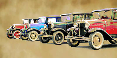 Photograph - Model A's by Steve McKinzie
