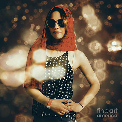 Photograph - Model At A Runway Catwalk Show During Fashion Week by Jorgo Photography - Wall Art Gallery