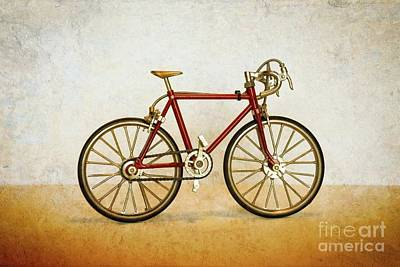 Photograph - Model Bicycle by Mary Machare