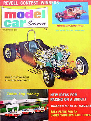 Photograph - Model Car Science Mag November 1964 by David Lee Thompson
