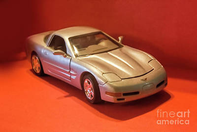 Photograph - Model Corvette by Linda Phelps