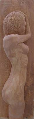 Nude Relief Relief - Model Female Nude.02 by Ray Agius