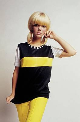 Photograph - Model In Black And Yellow by David McCabe