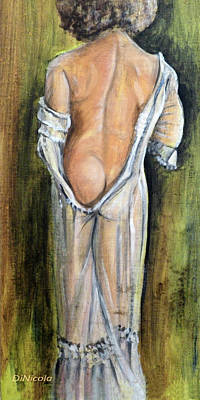 Study Of A Nude Painting - Model In Muse by Anthony DiNicola
