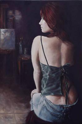 Model In Studio Original by Harvie Brown