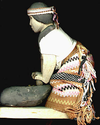 Photograph - Model Of A Costa Rico Indian Woman by Merton Allen