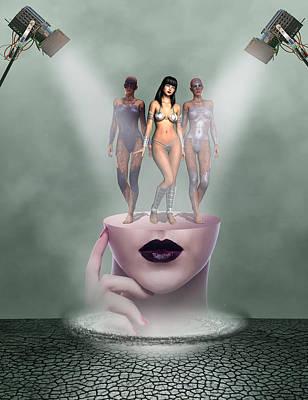 Swimsuit Mixed Media - Model Release by Solomon Barroa