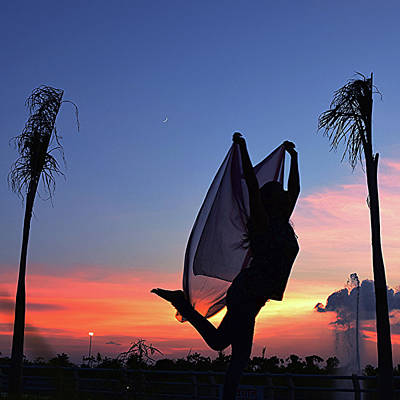 Photograph - Model Silhouette At Sunset by Atullya N Srivastava