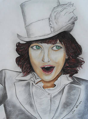 Pastel Portrait Pastel - Model Smiling by M Valeriano