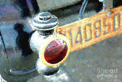 Model T Brake Light Print by Cheryl Rose