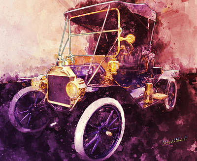 Digital Art - Model-t Commercial Roadster by Chas Sinklier