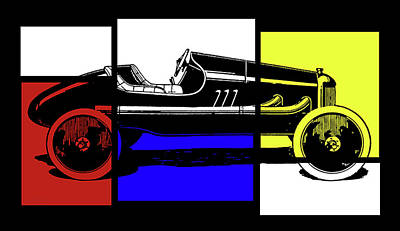 Digital Art - Model T Ford Racer Pop Rby by David King