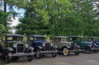 Photograph - Model T Line Up by Tikvah's Hope