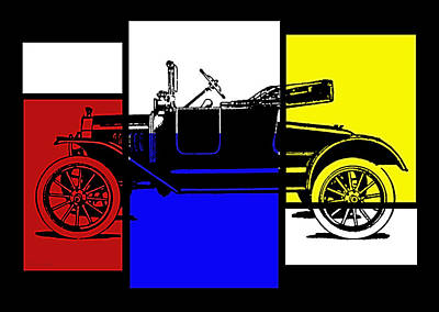Digital Art - Model T Roadster Pop Rby by David King