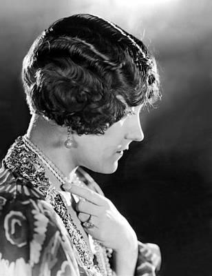 Model Wearing Her Hair In The Glorias Art Print by Everett