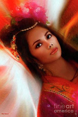 Photograph - Modeling My Vietnamese Kimono by Blake Richards