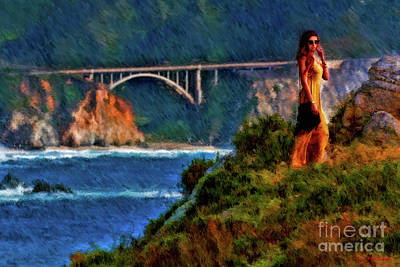 Photograph - Modeling Near The Bixby Creek  Bridge  by Blake Richards