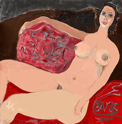 Modelo Valentina  Art Print by Carlos Camus