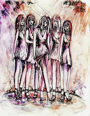 Models Art Print by Rachel Christine Nowicki