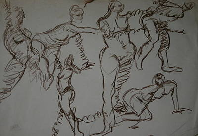 Drawing - Modelz by Joseph Lawrence Vasile