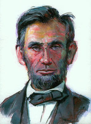 Painting - Modern Abe by Lesley Spanos