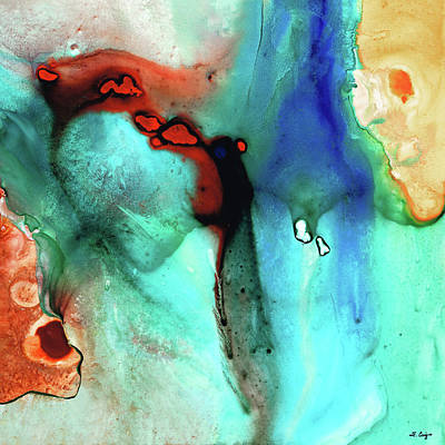 Drippy Painting - Modern Abstract Art - Color Rhapsody - Sharon Cummings by Sharon Cummings