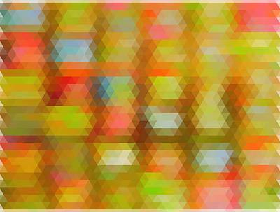 Modern Abstract Mosaic Color Combination 4 Art Print by Celestial Images