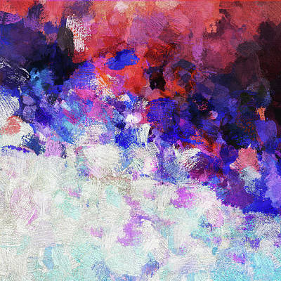 Painting - Modern Abstract Painting In Blue by Ayse Deniz