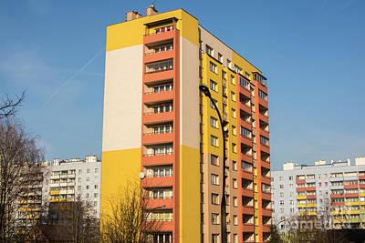 Photograph - Modern Apartment Buildings by Juli Scalzi