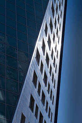 Photograph - Blue Modern Apartment Building by John Williams