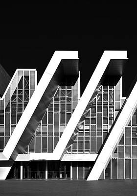 Photograph - Modern Architecture Elements Monochrome by Marek Stepan