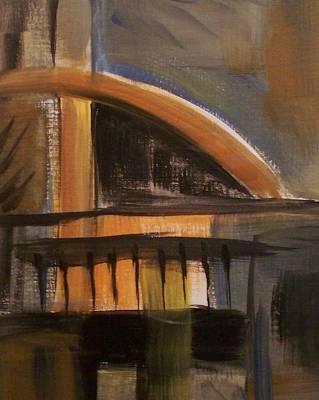 Painting - Modern Architecure 2 by Anita Burgermeister