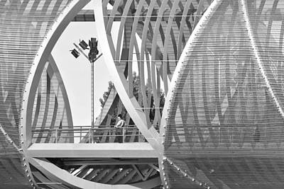 Photograph - Modern Arganzuela Bridge Madrid by Marek Stepan