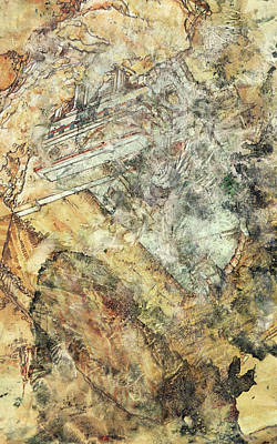 Warm Painting - Modern Art - Hidden In Granite - Sharon Cummings by Sharon Cummings