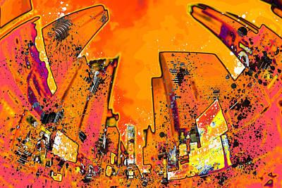 Distortion Photograph - Modern Art Nyc Times Square II by Melanie Viola
