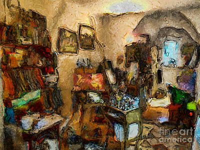 Painting - Modern Art Studio by Claire Bull