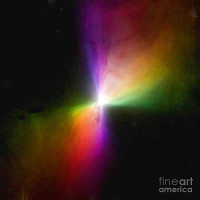 Photograph - Modern Art- The Boomerang Nebula - Heavenly Bodies by Merton Allen
