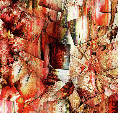 Mixed Media - Modern Batik Contemporary Abstract Art by Georgiana Romanovna