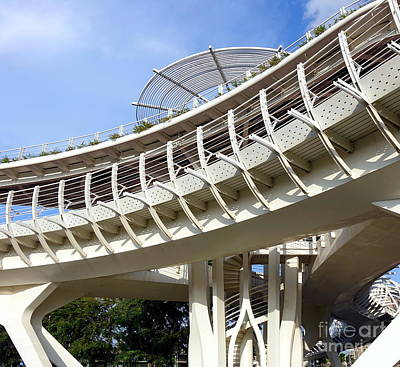 Photograph - Modern Bicycle And Pedestrian Overpass by Yali Shi