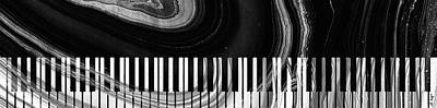 Painting - Modern Black And White Piano - Sharon Cummings by Sharon Cummings