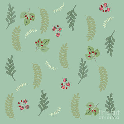 Nature Study Drawing - Modern Botanical Study Pattern, Spring And Summer by Tina Lavoie