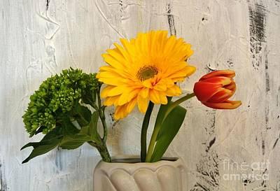 Art Print featuring the photograph Modern Bouquet by Marsha Heiken