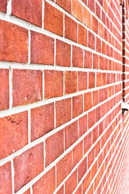 Modern Brick Wall Art Print by Tom Gowanlock