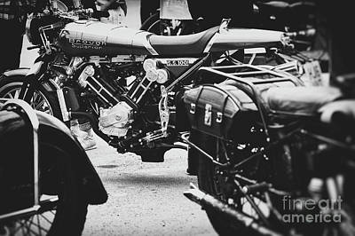 Photograph - Modern Brough Monochrome by Tim Gainey